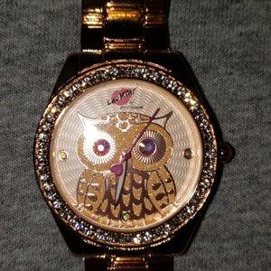 Betsey Johnson Owl Rose Gold Watch ♡